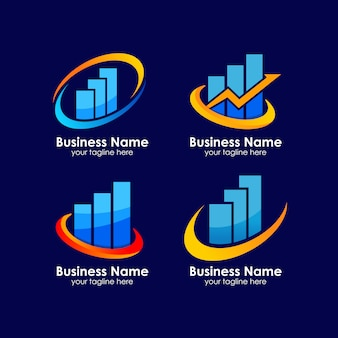 비즈니스 성장의 로고 디자인
