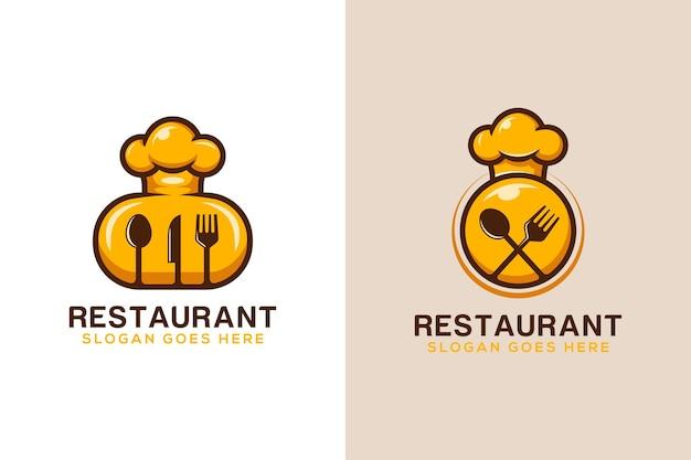 レストランのおいしい料理のロゴデザイン