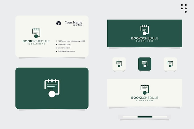 Logo design, planning events according to schedule, project deadlines. weekly schedule. ordered date. isolated vector illustration