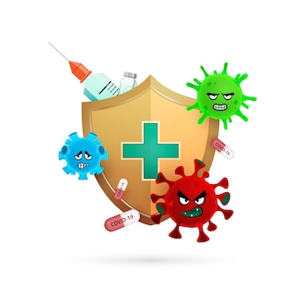 Logo design of protect from coronavirus