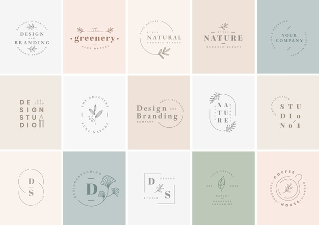 Logo design set