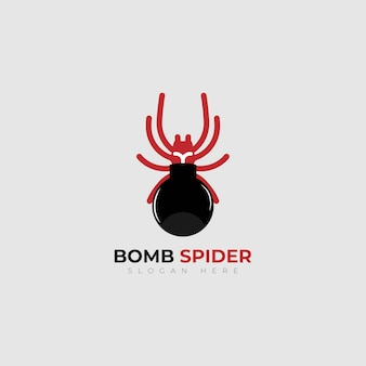 로고 디자인 벡터 폭탄 거미