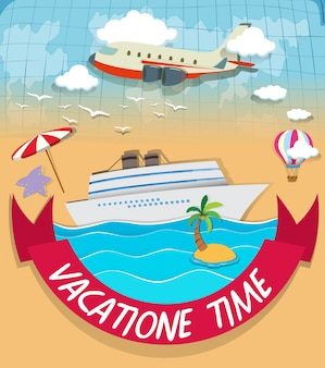 휴가 테마 로고 디자인