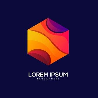 Logo diamond design colorful gradient illustration
