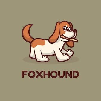 Логотип собака гончая простой стиль талисмана.