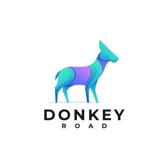 Logo donkey gradient style.