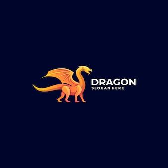 Логотип дракон градиент красочный