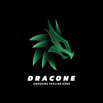 Логотип стиль градиента дракона