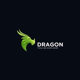 ロゴドラゴンヘッドグラデーションカラフル