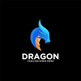 Logo  dragon head gradient colorful