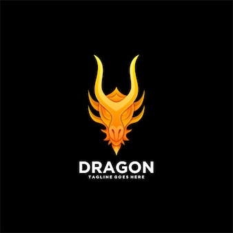 Logo dragon head gradient