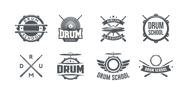 Logo of drum school.