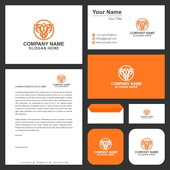 Logo eagel and business card