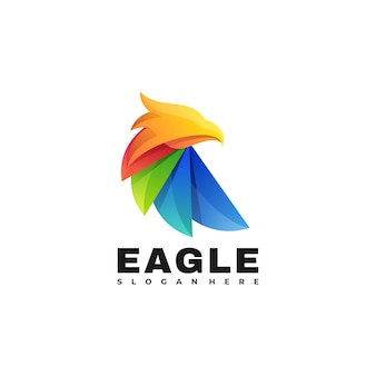 Logo  eagle gradient colorful style.