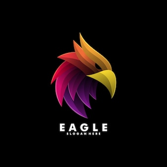 Logo  eagle gradient colorful