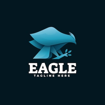 Logo eagle gradient.