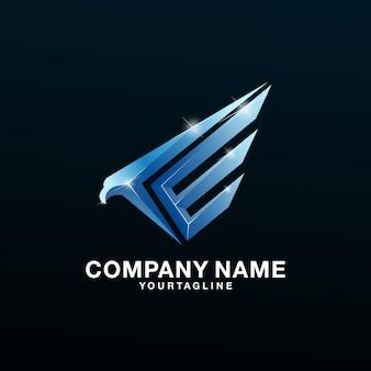 Logo eagle latter e awesome