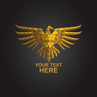 Logo eagle poly gold