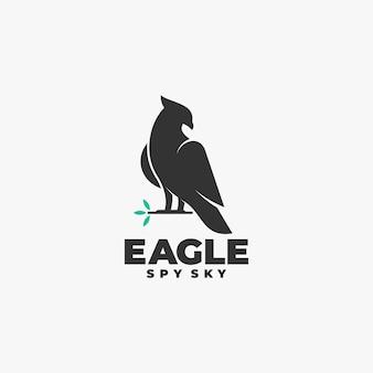 Logo  eagle silhouette