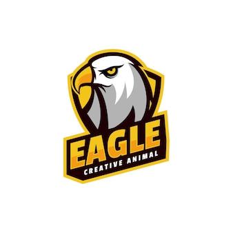 Logo eagle simple mascot style