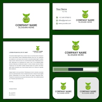 Logo eco and business card
