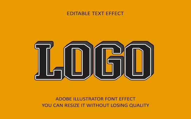 Logo editable text effect