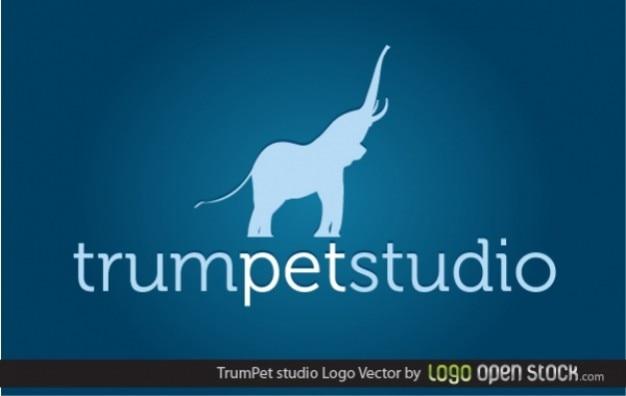 Logo elephant trumpet studio