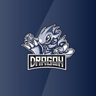 ロゴeスポーツドラゴンキャラクター