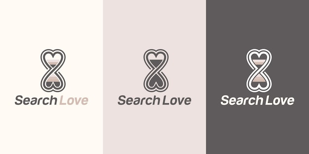 Logo for finding love, dating agency, looking for a life partner