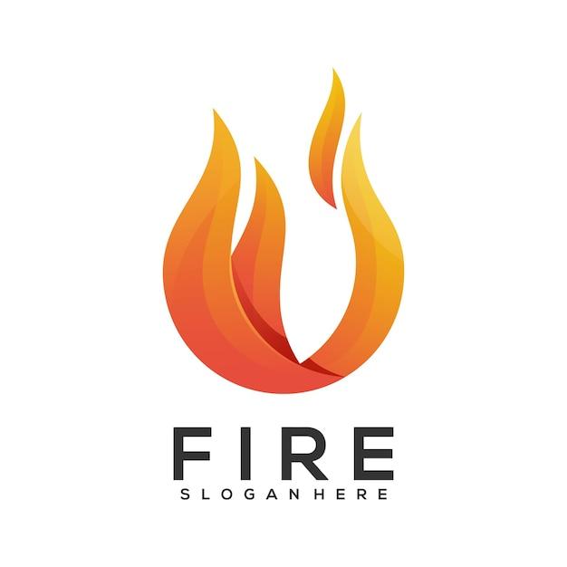 ロゴの火のグラデーション