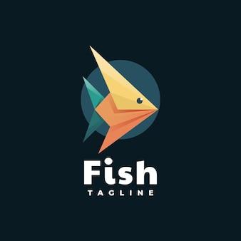 Logo fish polygon style