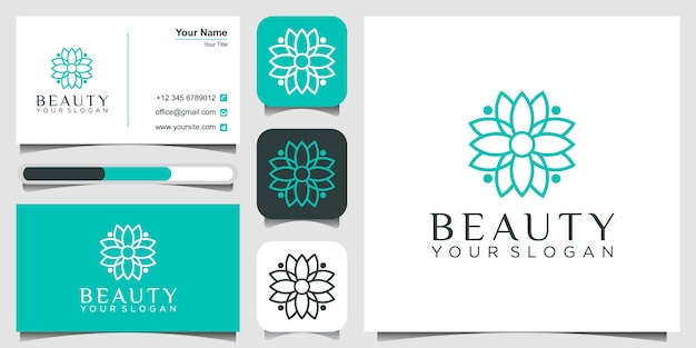 Logo of flower, beauty concept and business card