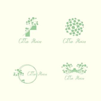 Logo flowers feminine green