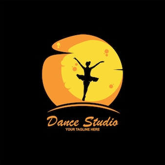 Логотип для балетной или танцевальной студии