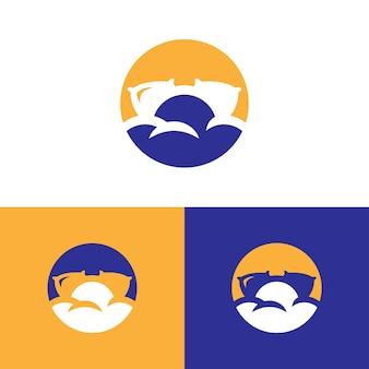 ベッド会社とレジャーカテゴリのロゴ