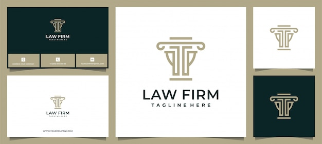 Логотип для юридической фирмы, юридического бюро, адвокатских услуг, роскошный винтажный герб, логотип и бизнес-файлы
