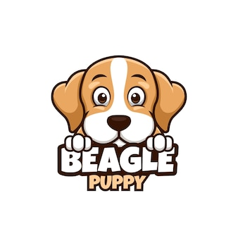 ペットショップ、ペットケア、またはビーグル犬とあなた自身の犬のロゴ