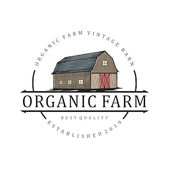 Логотип для сельского хозяйства с элементом сарая