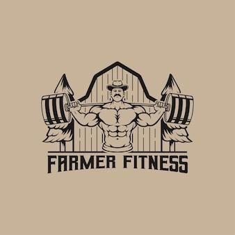 농장 지역의 체육관 로고