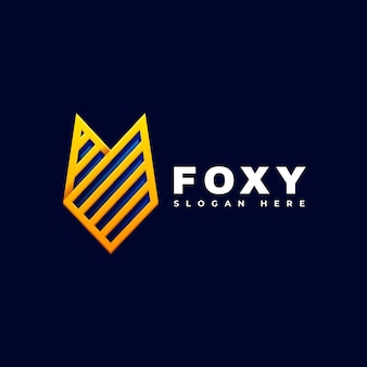 Logo fox line art style