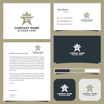 Logo g crown and business card