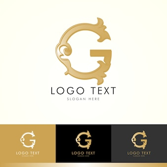 Logo g, monogram g, gold, vector g, logo design