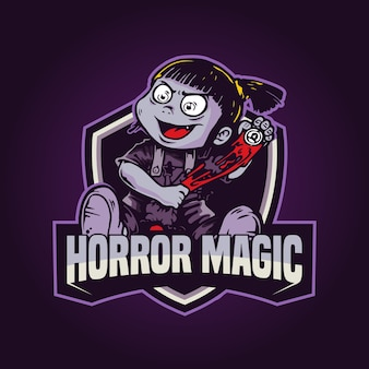 Logo game magic mascot illustration