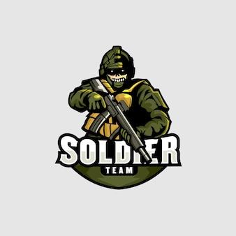 Солдат киберспорт logo gaming