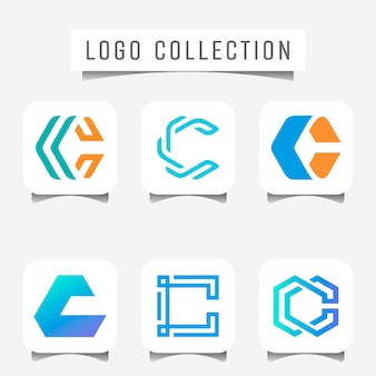 Logo of geometrical letter c