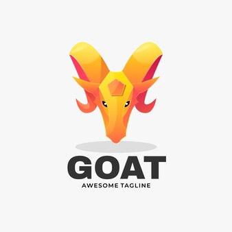 Логотип коза градиент красочный стиль.