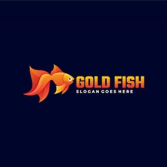 Logo  goldfish gradient colorful style.