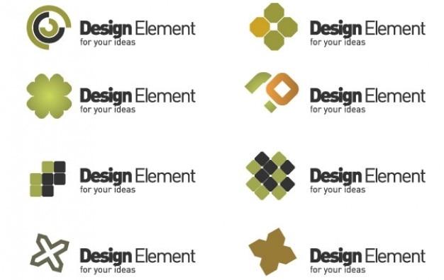Logo verde trifoglio elemento di design