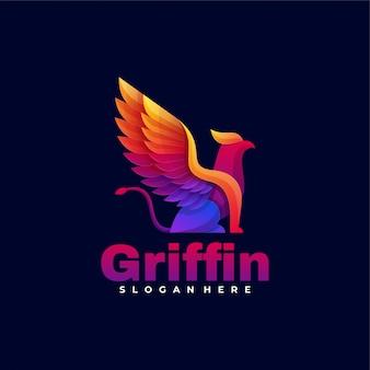 Логотип гриффин градиент красочный стиль.
