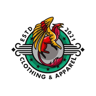 Logo griffins circle green for clothing and apparel